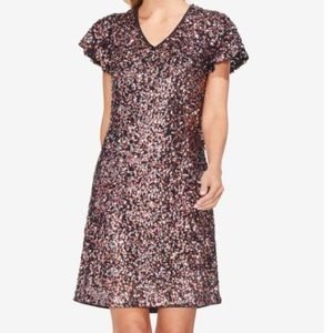 Vince Camuto Dresses - NWT Vince Camuto Rose Gold Sequin Dress
